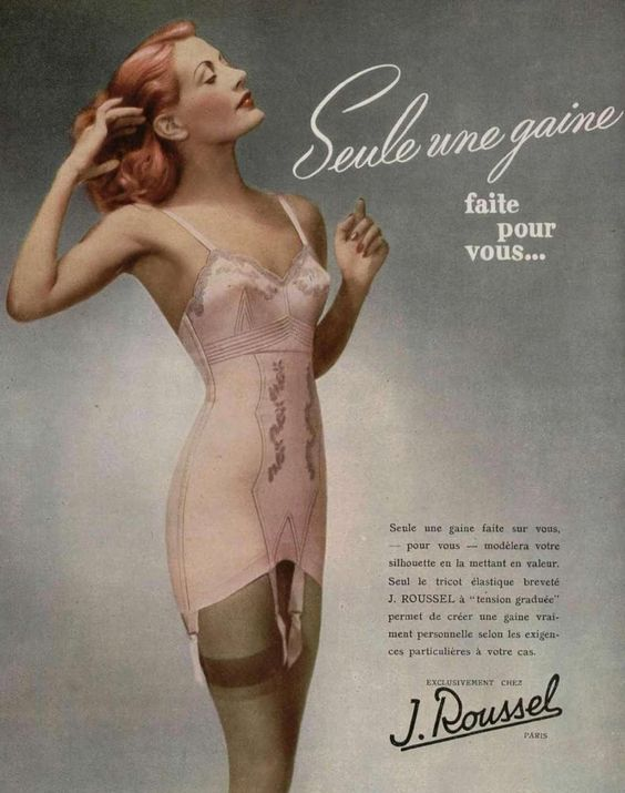 French girdle advertisement Artiste Plastic Surgery